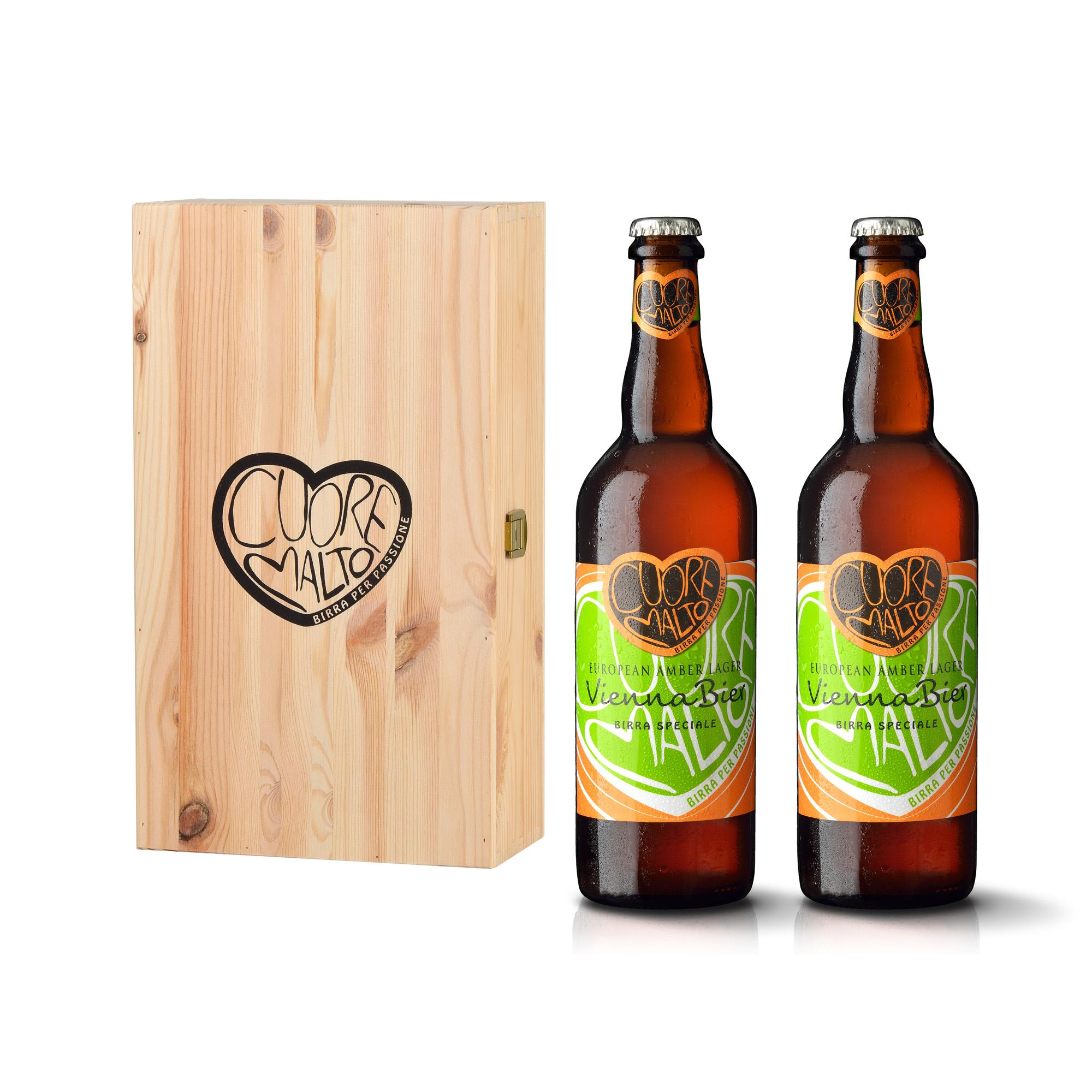 Cofanetto in legno da 2 bottiglie
